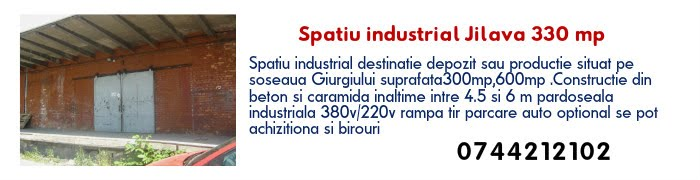 jilava spatiu industrial330 mp